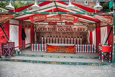 Funfair Photograph - Coconut Shy by Adrian Evans
