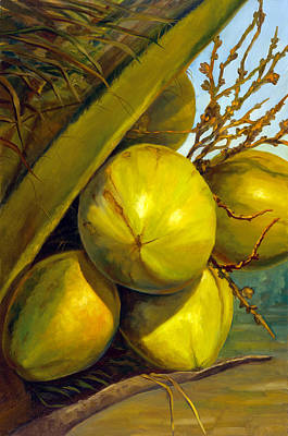Painting - Coconuts Series One by Jose Romero