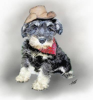Watercolor Pet Portraits Digital Art - Cody Wyo by Tom Schmidt