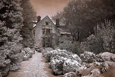 Photograph - Coe Hall In Winter by Steve Zimic