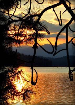 Coeur D'alene Lake Sunset Art Print by Cindy Wright