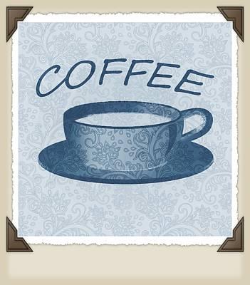 Digital Art - Coffee 1-2 Scrapbook by Angelina Vick
