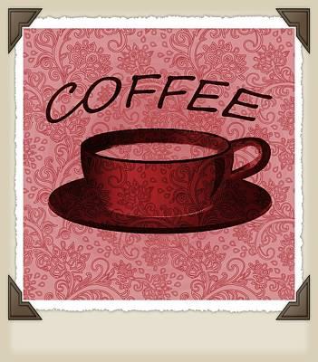 Digital Art - Coffee 2-2 Scrapbook by Angelina Vick