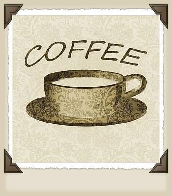 Digital Art - Coffee 3-2 Scrapbook by Angelina Vick