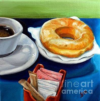 Painting - Coffee And Donut by Gretchen Matta
