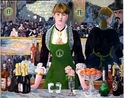 Folies Bergere Painting - Coffee At The Folies by Michael Griesgraber