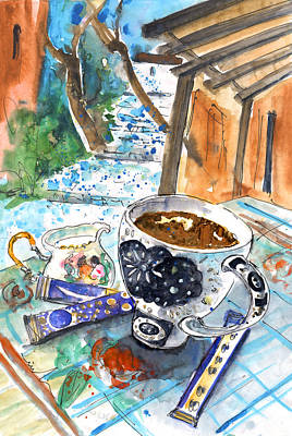 Painting - Coffee Break In Elos In Crete by Miki De Goodaboom