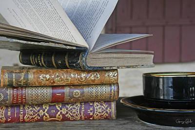 Coffee Break With Books Art Print