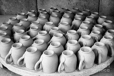 Clay Ceramic Photograph - Coffee Cups by Gaspar Avila