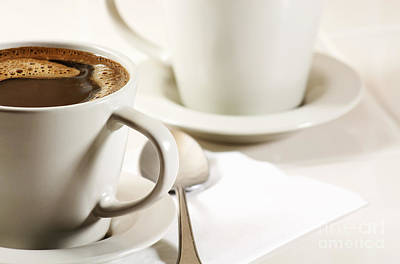Coffee In Cup Art Print by Blink Images