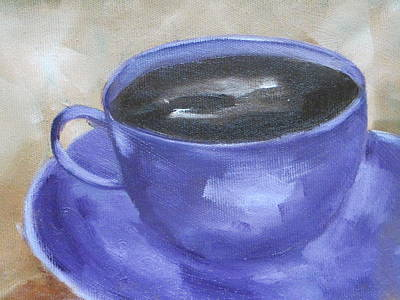 Soap Suds - Coffee in Purple Cup by Patricia Cleasby