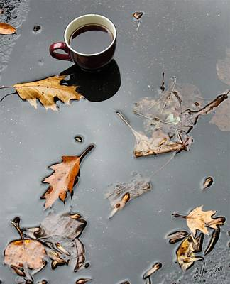 Modern Kitchen - Coffee Leaves Blacktop Pond by T Cook