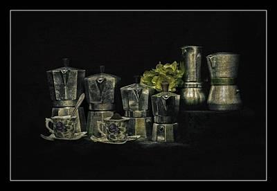 Light Paint Photograph - Coffee Maniacs Collection by Radu Aldea