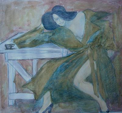 Drawing - Coffee Tea Or Me by Diane montana Jansson