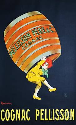 Advertisment Painting - Cognac  Pellisson by Pg Reproductions