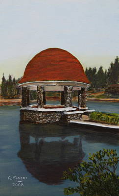 Painting - Cogshall Bandstand by Alan Mager
