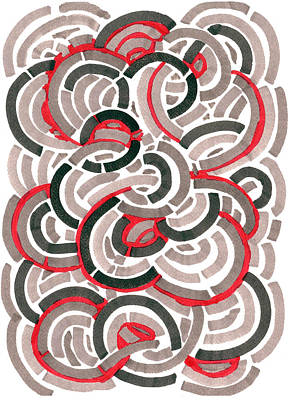 Drawing - Coils by Jason Messinger
