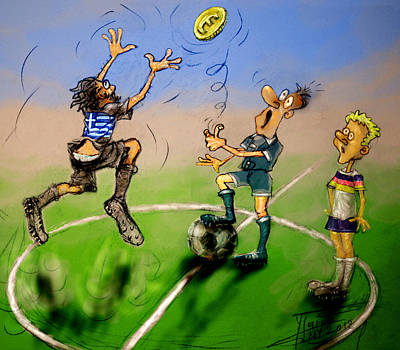 Greece Mixed Media - Coin Toss  by Ylli Haruni