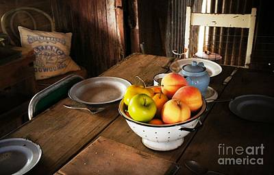 Fruit Photograph - Colander Of Fruit by Therese Alcorn