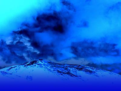 Cold And Blue Art Print by Randall Weidner