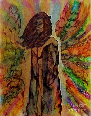 Cold Shoulder Art Print by Linda May Jones