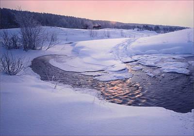 Photograph - Cold Winter Evening by Vladimir Kholostykh