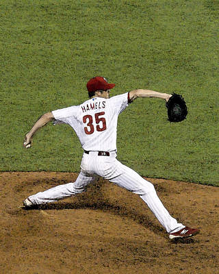 Cole Hamels Art Print by Gerry Mann