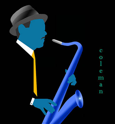 Digital Art - Coleman Hawkins Blue by Victor Bailey