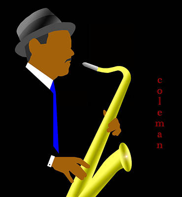 Jazz Digital Art - Coleman Hawkins by Victor Bailey