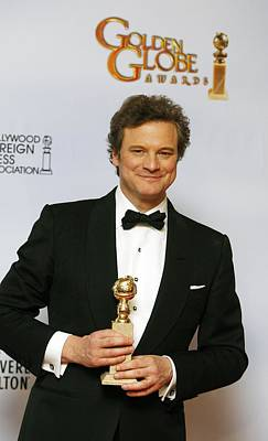 In The Press Room Photograph - Colin Firth In The Press Room For The by Everett