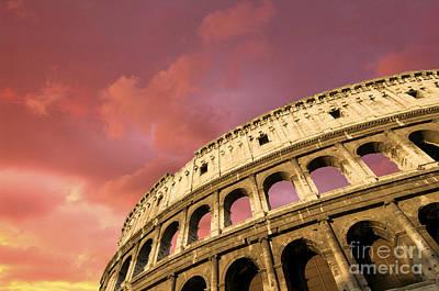 Coliseum. Rome. Lazio. Italy. Europe Art Print by Bernard Jaubert