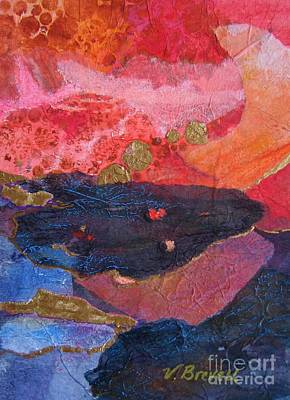 Painting - Collage In Reds by Vicki Brevell