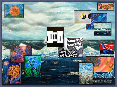 Painting - Collage Of Paintings by Pm Ernst