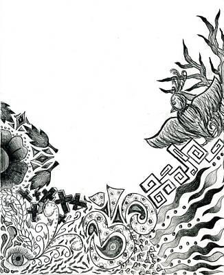Collage Of Symbols Art Print by Tessa Hunt-Woodland