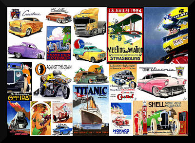 Hot Rod Mixed Media - Collage Of Toons 2 by Lyle Brown