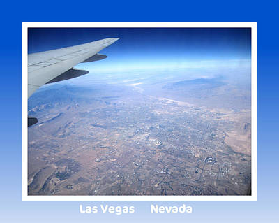Photograph - Collectible Art Print Photo Las Vegas Nevada From 35000 Ft Aerial View by John Shiron