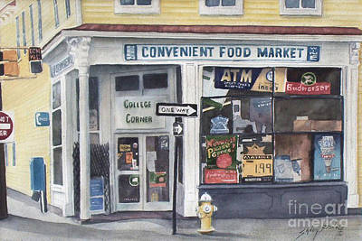 College Corner Original...sold Art Print