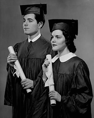 College Graduation Art Print by George Marks