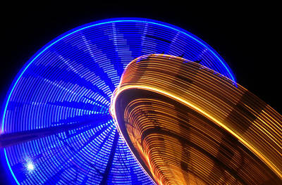 Florida State Fair Photograph - Colliding Galaxies by David Lee Thompson