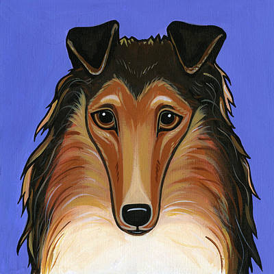 Painting - Collie Rough by Leanne Wilkes
