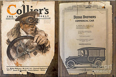 Colliers Cover Both Sides Jan 5 1918 Art Print by Roy Foos