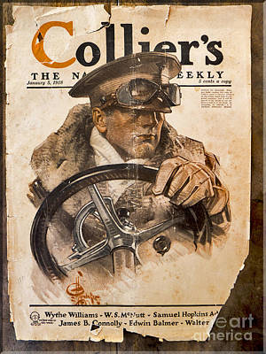Colliers Cover Jan 5 1918 Art Print by Roy Foos