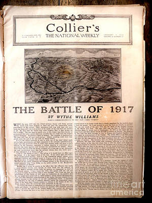 Colliers Jan 5 1918 Pg 5 Art Print by Roy Foos