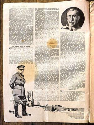 Colliers Jan 5 1918 Pg 6 Art Print by Roy Foos