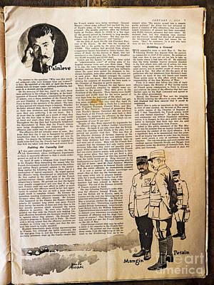 Colliers Jan 5 1918 Pg 7 Art Print by Roy Foos