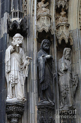 Cologne Cathedral Statues Art Print by Bob Christopher