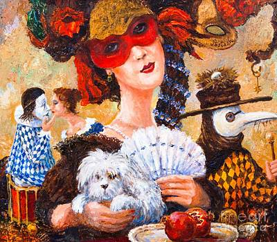 Painting - Colombina by Igor Postash
