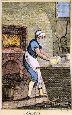 Colonial Man Photograph - Colonial Baker, 18th C by Granger