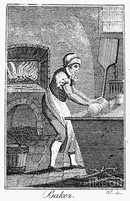 Colonial Man Photograph - Colonial Baker, C1800 by Granger