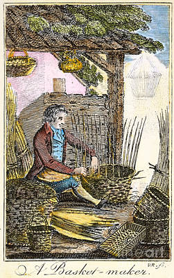 Colonial Man Photograph - Colonial Basketmaker by Granger